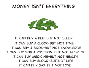 Money Isn't Anything